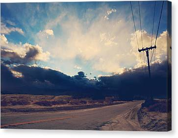 Just Down The Road Canvas Print by Laurie Search