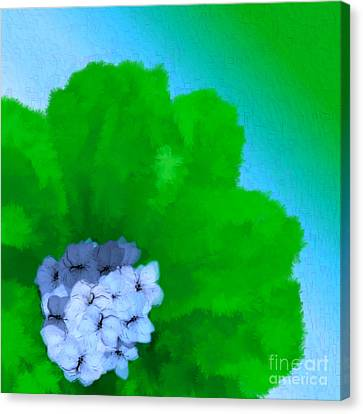 Just Give Me A Reason Blue Green Blue Canvas Print