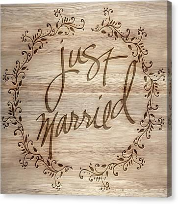 Just Married Canvas Print by Sd Graphics Studio