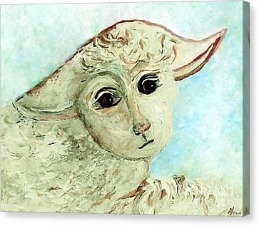 Just One Little Lamb Canvas Print by Eloise  Schneider