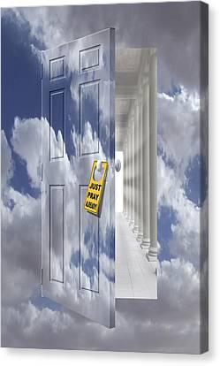 Just Pray Already Canvas Print by Mike McGlothlen