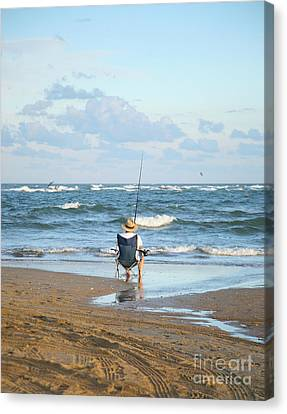 Just Relaxin And Fishin Canvas Print by Suzi Nelson