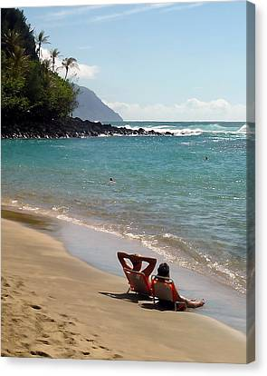 Just Relaxin' Canvas Print by John Bushnell