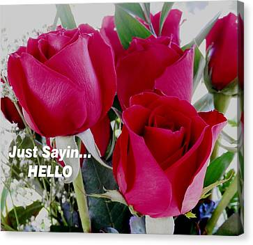 Sending Red Roses Canvas Print