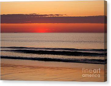 Just Showing Up Along Hampton Beach Canvas Print