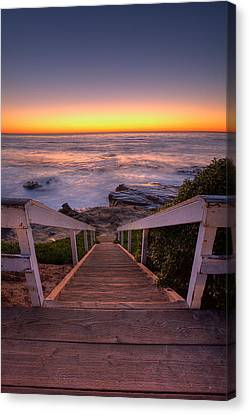 La Jolla Art Canvas Print - Just Steps To The Sea by Peter Tellone