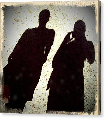 Portraits Canvas Print - Just The Two Of Us - Shadows Of A Couple by Matthias Hauser