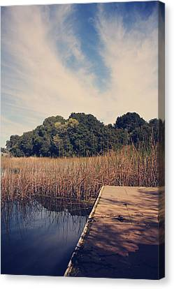Just To Make This Dock My Home Canvas Print by Laurie Search