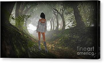 Just Up Ahead Canvas Print