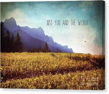 Canvas Print featuring the photograph Just You And The World by Sylvia Cook