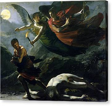 Robbers Canvas Print - Justice And Divine Vengeance Pursuing Crime by Pierre-Paul Prud'hon
