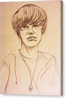 Justin Bieber 1 Canvas Print by Esther Rowden