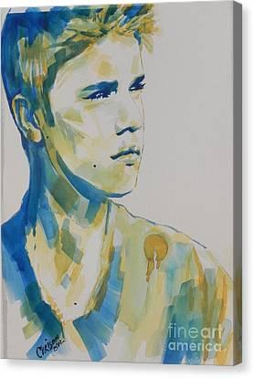 Justin Bieber Canvas Print by Chrisann Ellis