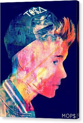 Justin Bieber Canvas Print by Jessica Echevarria