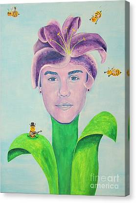 Justin Bieber Painting Canvas Print by Jeepee Aero