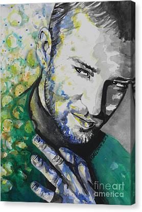 Justin Timberlake...01 Canvas Print by Chrisann Ellis