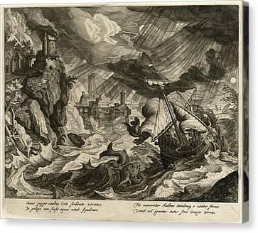 Justus Sadeler After Paul Bril, Jonah Thrown Canvas Print