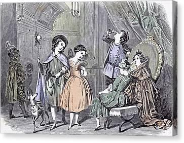 Juvenile Fancy Ball Paris Children 1847 Bals Costums Paris Canvas Print