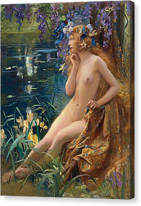 Juventa Canvas Print by Gaston Bussiere