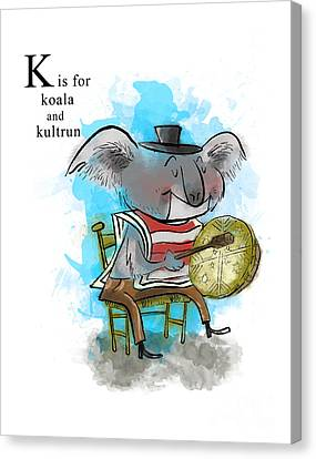 K Is For Koala Canvas Print by Sean Hagan