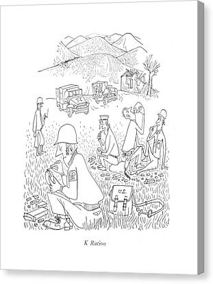 K Ration Canvas Print by Saul Steinberg