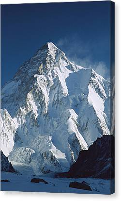 Snow-covered Landscape Canvas Print - K2 At Dawn Pakistan by Colin Monteath