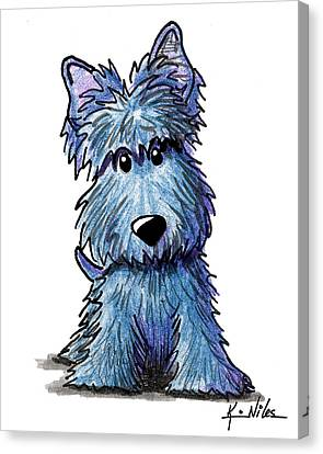 K9 Keanu Scottie Terrier Canvas Print by Kim Niles