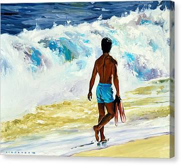 Oahu Canvas Print - Ka Nalu by Douglas Simonson