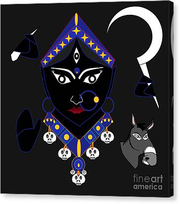 Kaalraatri Canvas Print by Pratyasha Nithin
