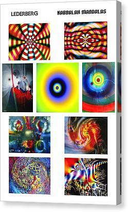 Kabbalah Mandala Poster Canvas Print