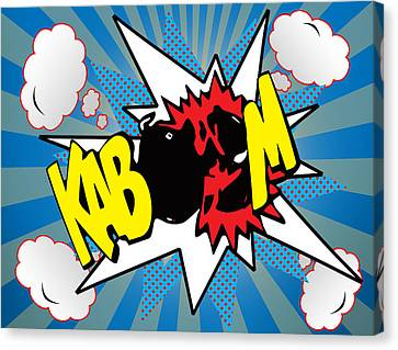 Kaboom Canvas Print by Mark Ashkenazi