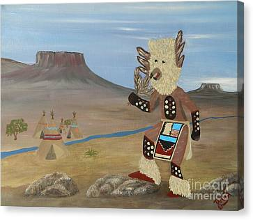 Kachina Owl Dancer Canvas Print