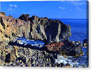 Canvas Print featuring the photograph Kaena Point Rock Arch by Aloha Art