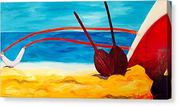 Kaeti's Canoe Canvas Print by Beth Cooper