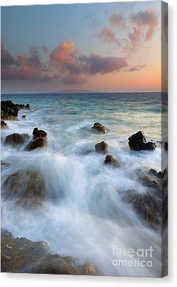 Kahoolawe Sunset Canvas Print by Mike  Dawson