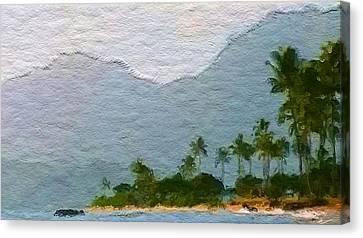 Kahuku Beach Side Canvas Print