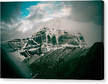 Kailas Mountain Tibet Home Of The Lord Shiva Canvas Print