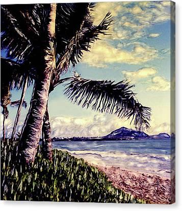 Kailua Beach 3 Canvas Print by Paul Cutright