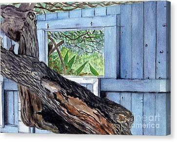 Canvas Print featuring the painting Kailua Beach House by Mukta Gupta