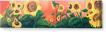 Kait's Sunflowers Canvas Print by Jessica Tookey