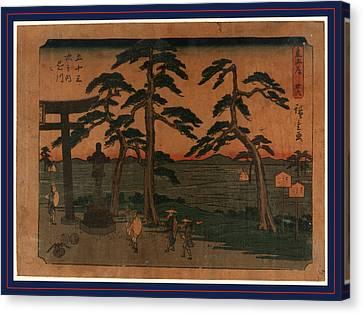 Kakegawa, Ando Between 1848 And 1854, 1 Print  Woodcut Canvas Print by Utagawa Hiroshige Also And? Hiroshige (1797-1858), Japanese
