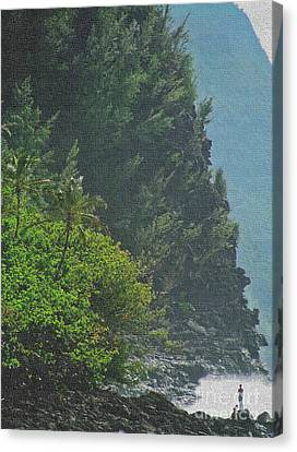 Canvas Print featuring the photograph Kalalau Coast by Roselynne Broussard
