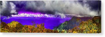 Kalalau Outlook Colors Canvas Print by Douglas Barnard