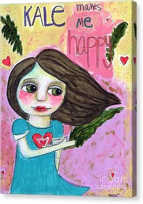 Kale Makes Me Happy Canvas Print