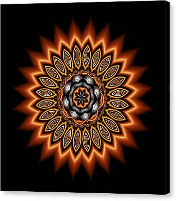 kaleidoscope 1 in Precious Metals Canvas Print by Faye Symons