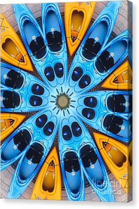 Kaleidoscope Canoes Canvas Print by Amy Cicconi