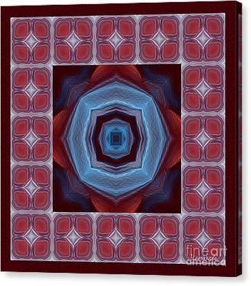 Kaleidoscope Combo 8 Canvas Print by Louise Lamirande