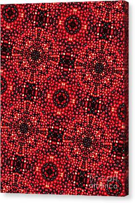 Kaleidoscope Cranberries Canvas Print by Amy Cicconi