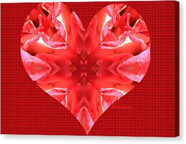 Kaleidoscope Heart Canvas Print