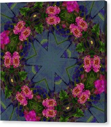 Kaleidoscope Lantana Wreath Canvas Print by Cathy Lindsey